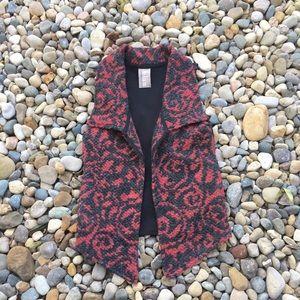 Anthropologie Knit Sweater Vest Dolan Black & Red